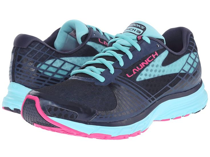 BROOKS BROOKS - LAUNCH 3 (PEACOAT/BLUE RADIANCE/PINK GLO) WOMEN'S RUNNING SHOES. #brooks #shoes #