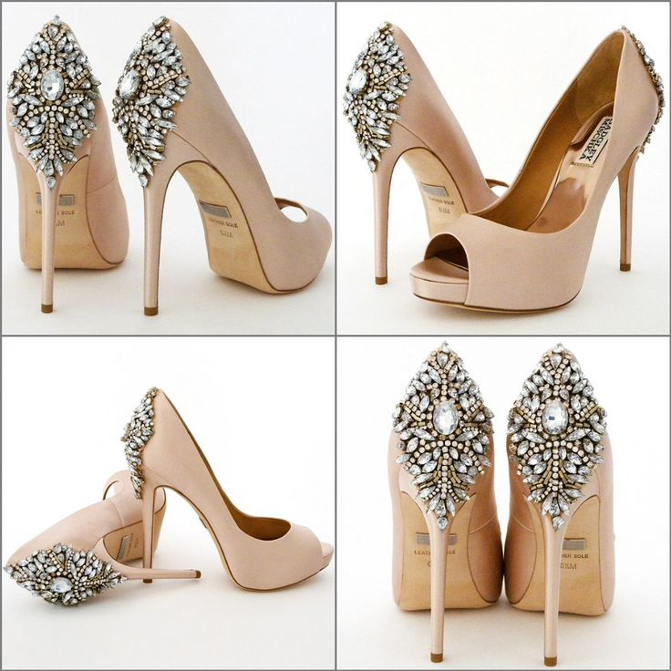 Badgley Mishka Wedding Wedding Shoes. Badgley Mischka Kiara in blush, a stunning bridal & evening shoe that makes a fabulous entrance and exit. <3<3<3