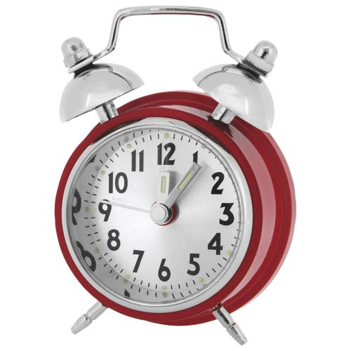 Artisan Collection Double Bell Alarm Mini Desktop Clock (C191RD) - Red/ Silver WAKE UP!!! WAKE UP!! WAKE UP!! LOVE IT!!! #SetMeUpBBY