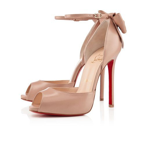 Christian Louboutin Dos Noeud 120mm Sandals Nude Leather