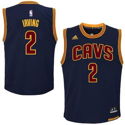Youth Cleveland Cavaliers Kyrie Irving adidas Wine Replica Road Jersey