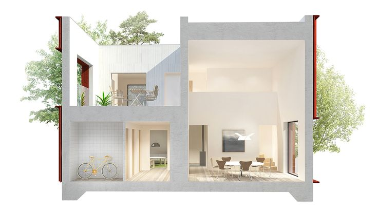 1 115 square feet, 1.5 floors, 4 rooms and a social kitchen. A well planned home suited for the average Swedish family. By analysing 200 million clicks, Hemnet – Sweden's most popular property portal – has created Sweden's most sought after home. Explore the home and tell us what you think.