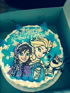 Frozen Birthday Cake - Anna, Elsa and Olaf Birthday Cake