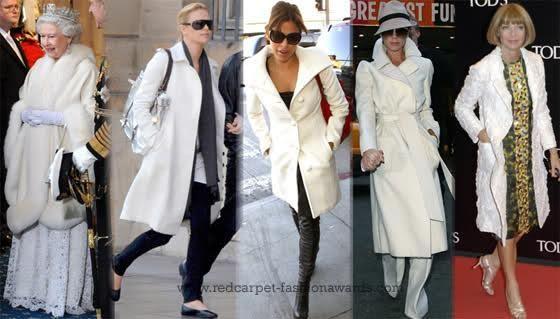 Белые пальто у майли сайрус