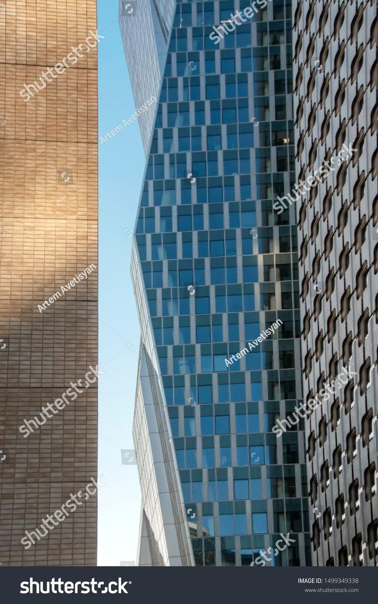 Abstract vertical background with office buildings facades overlapping each  other. Reflections in windows, business… in 2020 | Building facade, Stock  photos, Stock images