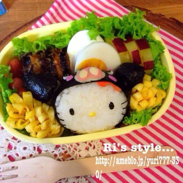 レシピとお料理がひらめくSnapDish - 30件のもぐもぐ - 御当地キティちゃん‼︎黒豚キティ弁当♡ by Ri's style