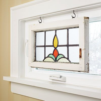 A Ho Hum Bath Becomes Handsome Retreat Home Ideas Pinterest Stained Gl And Windows