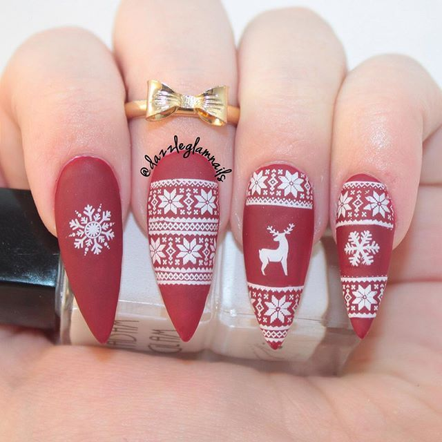 Christmas Sweater Nails @KortenStEiN