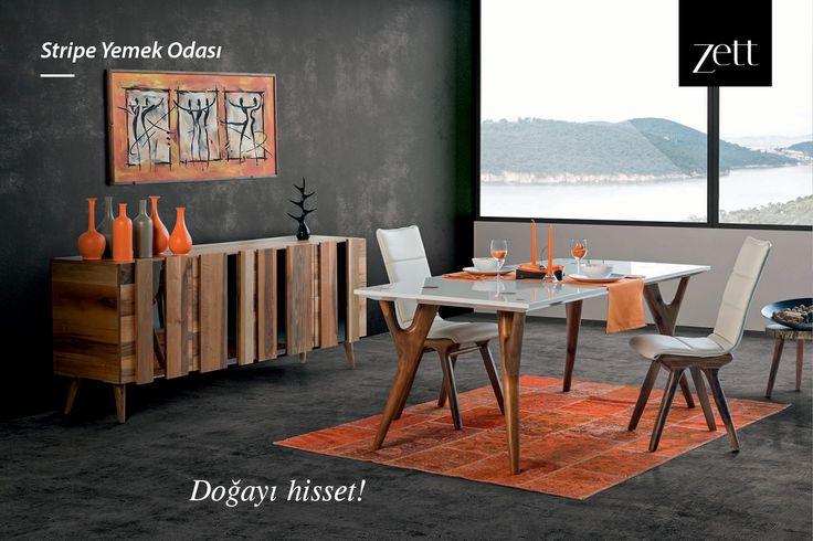 Ahşabın doğal formunu beyaz ile detaylandıran Stripe Yemek Odası, doğanın huzurlu enerjisini evinize yayıyor. #zettdekor #mobilya #furniture #ahşap #wooden #yatakodasi #bedroom #yemekodasi #diningroom #ünite #tvwallunits #yatak #bed #gardrop #wardrobe #masa #table #sandalye #chair #konsol #console #dekor #decor #dekorasyon #decoration #koltuk #armchair #kanepe #sofa #evdekorasyonu #homedecoration #homesweethome #içmimar #icmimar #evim #home #inegöl #bursa #turkey