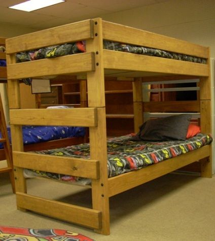 Bunk & Loft Factory - Twin-Twin Bunk Beds - Simple Sturdy Solid Wood - - Real Wood Bunk Beds Show Home Design