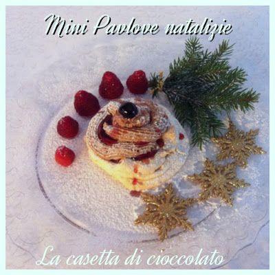 la casetta di cioccolato: Mini pavlove natalizie