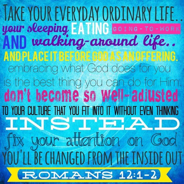 Romans 12:1-2 - Google Search