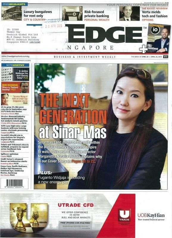 """The Edge Magazine featuring Goodrich Global on page 7, """"New roles for senior employees""""."""