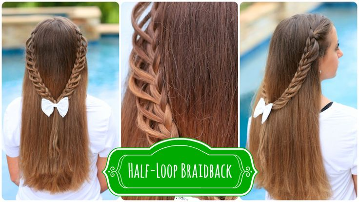 Half-Loop Braidback | Back-to-School Hairstyles