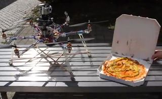 flying pizza service