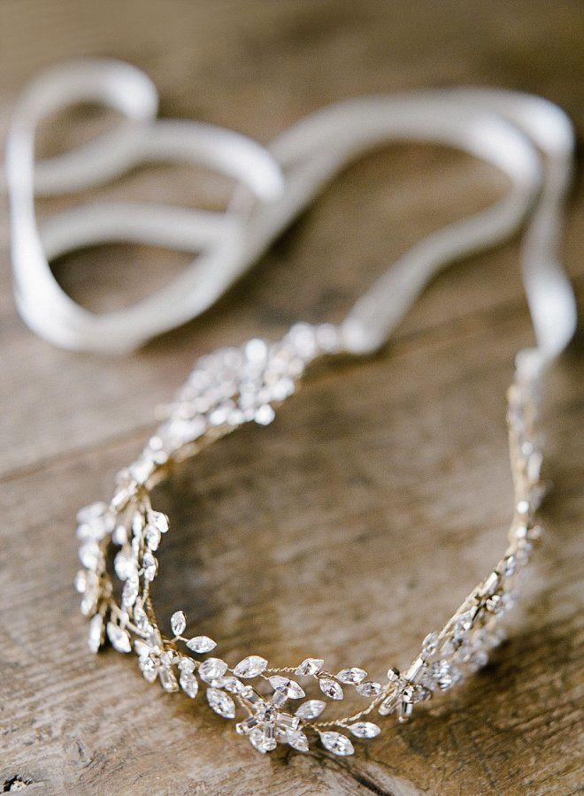 Diamond embellished wedding headpiece: http://www.stylemepretty.com/destination-weddings/italy-weddings/2016/08/11/an-elegant-sicilian-wedding-rooted-in-family-history/ Photography: Leighanne Herr - http://www.leighanneherr.com/