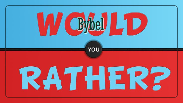 Speletjies: Bybel would you rather