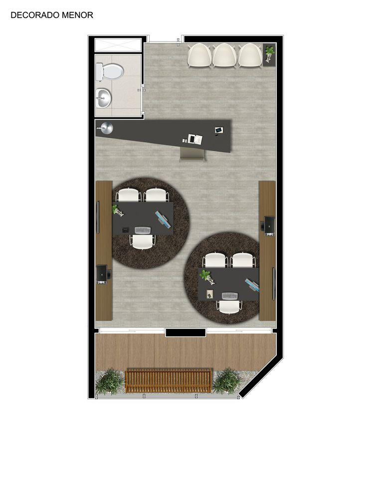 Planta sala comercial 37m².