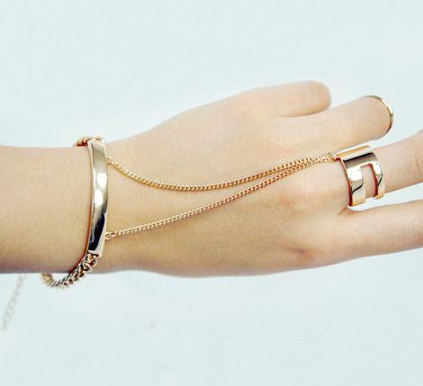V-slit ring + bracelet handchain 핸드체인, 팔찌, 반지