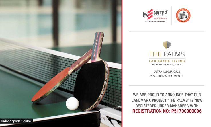 """We Are Proud To Announce That Our Landmark Project """"The Palms"""" Is Now Registered Under Maharera With Registration Number: P51700000006 The Palms - Landmark Living Off Palm Beach Road, Nerul Ultra-Luxurious 2 & 3 BHK Apartments www.metrogroupindia.com #ThePalms #RealEstate #MetroGroup #Nerul #NaviMumbai #Maharera"""