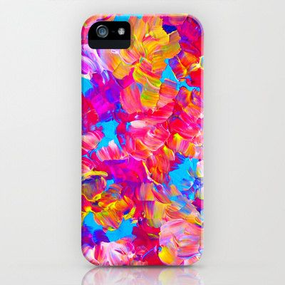 FLORAL FANTASY iPhone 4 5 5c 6 6s Case Samsung by EbiEmporium  cellphone  case  hardcover  iphonecase  iphone4  iphone5  iphone5c  iphone5s  iphone6  samsunggalaxy  samsung  gs4  gs5  watercolor  floral  neon  hotpink  pink  turquoise  yellow  summer  flower  forher  modern  tech  device  abstract  ebiemporium  art