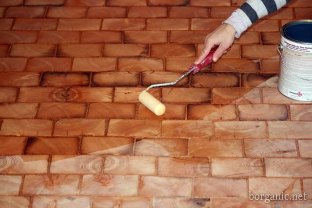 A good step by step on DIY wood tiles. I think this would be lovely in the greenhouse. I wonder how it would hold up.