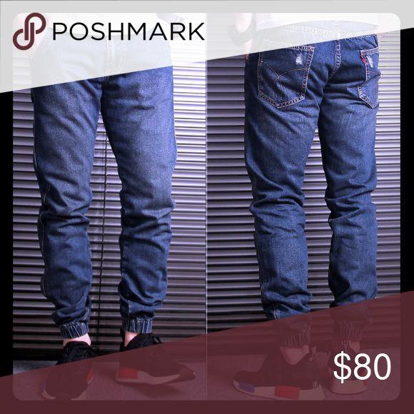 Denim jogger pants for men- Slim straight Brand new Jeans Slim Straight