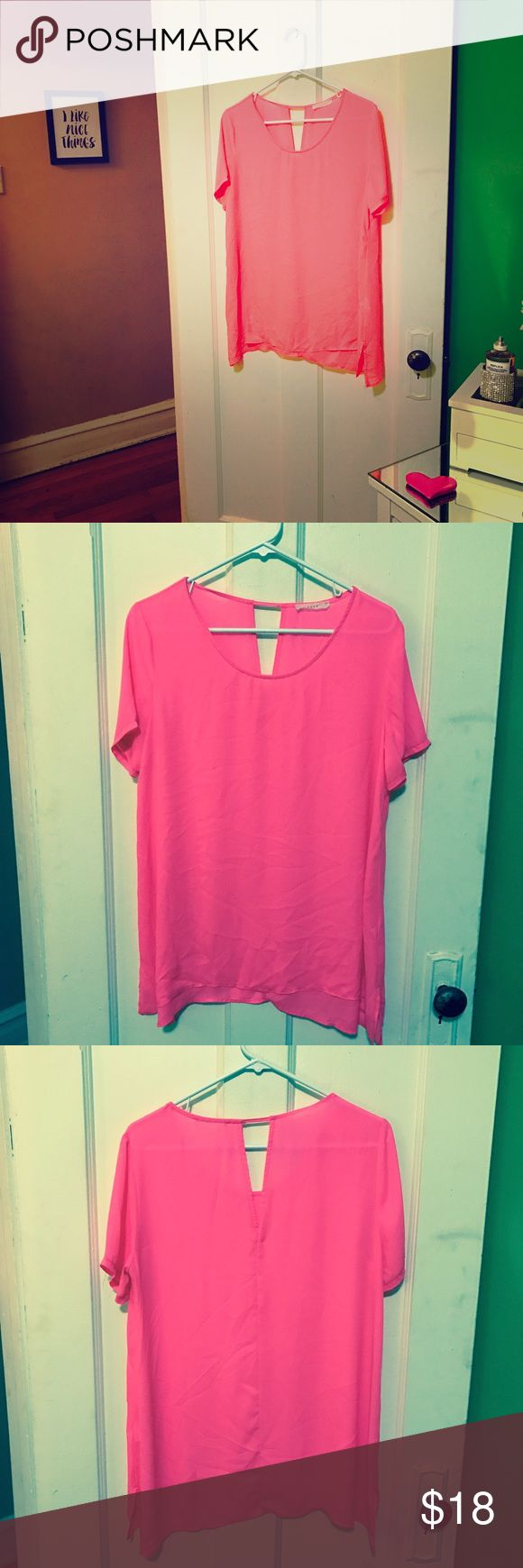 LUSH Hot Pink Blouse. Worn once. EUC LUSH Hot Pink Blouse. Worn once. EUC Lush Tops Blouses