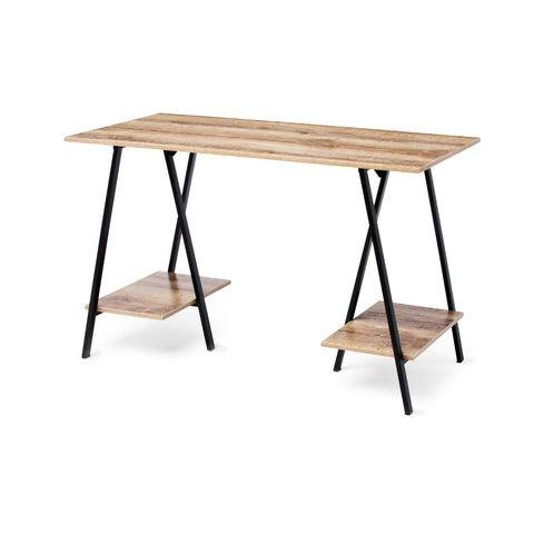 Industrial Trestle Desk Kmart - $59 •Dimensions: Desk - 75cm (H) x 120cm (W) x 60cm (D); Lower shelf - 18cm (H) x 30cm (W) x 48.5cm (D)