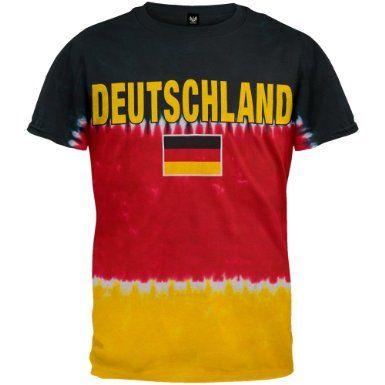 Distressed Germany Country Flag Deutschland German  Juniors V-neck T-shirt