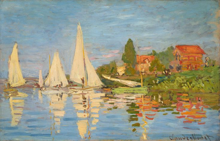 Regatta at Argenteuil, Monet | Regatta at Argenteuil - Claude Monet - WikiPaintings.org