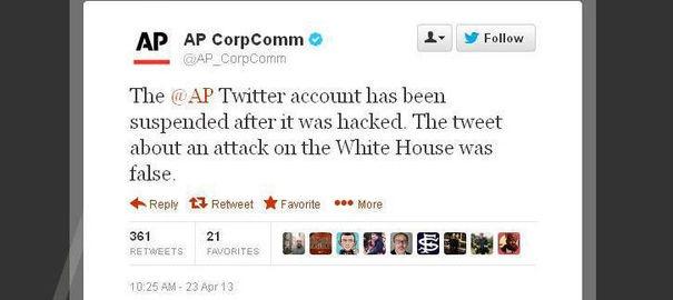 Piraté, le compte Twitter de l'agence AP annonce un attentat contre Obama