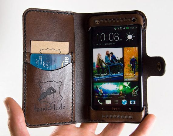 Leather HTC One Wallet / Leather HTC One Case