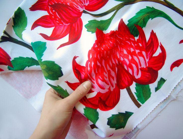 Hello Julie White Australian waratah design by Julie White • Australia souvenir craft