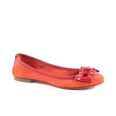 Ballerina  Upper: Velour/Leather  Colors: Orange, Yellow, Blue, Green, Soft Red