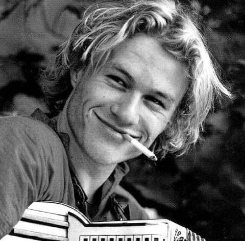 Even though I don't smoke there's still something sexy about it when Heath ledger does it.