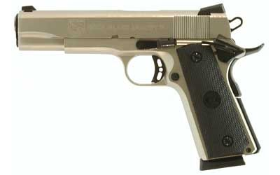 "Rock Island Armory 1911 Semi-automatic 1911 Full 45 ACP 5"" Steel Matte Nickel Synthetic 8 Round Fired Case Ambidextrous 51448"