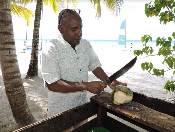 Our Couples Swept Away Operations Manager Konrad Malcolm showing his versatility around the resort.