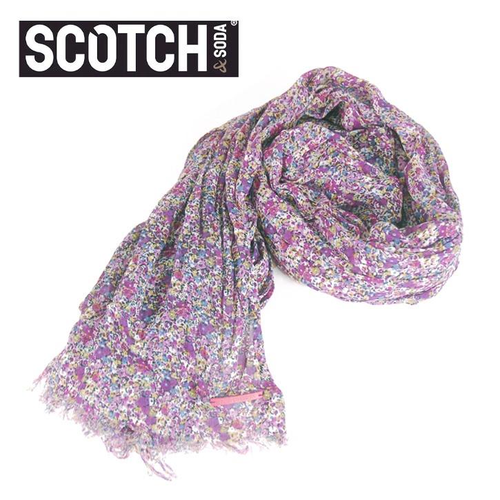 SCOTCH(スコッチアンドソーダ) ストール 花柄 パープル SC70008-31 Col.B ssm-sc-008
