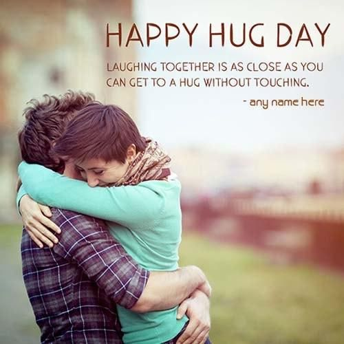 happy hug day wishes quotes with names editor. write couple name on happy hug day wishes quotes images, hug day image with a beautiful wishes