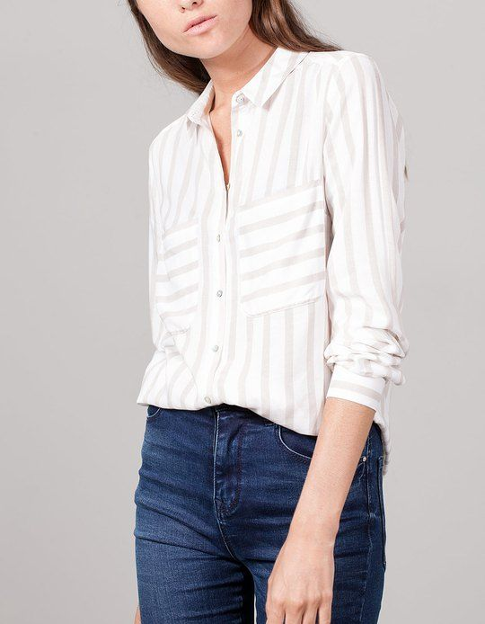 At Stradivarius you'll find 1 Stripe Viscose Shirt for woman for just 1990 Serbia . Visit now to discover this and more SHIRTS.