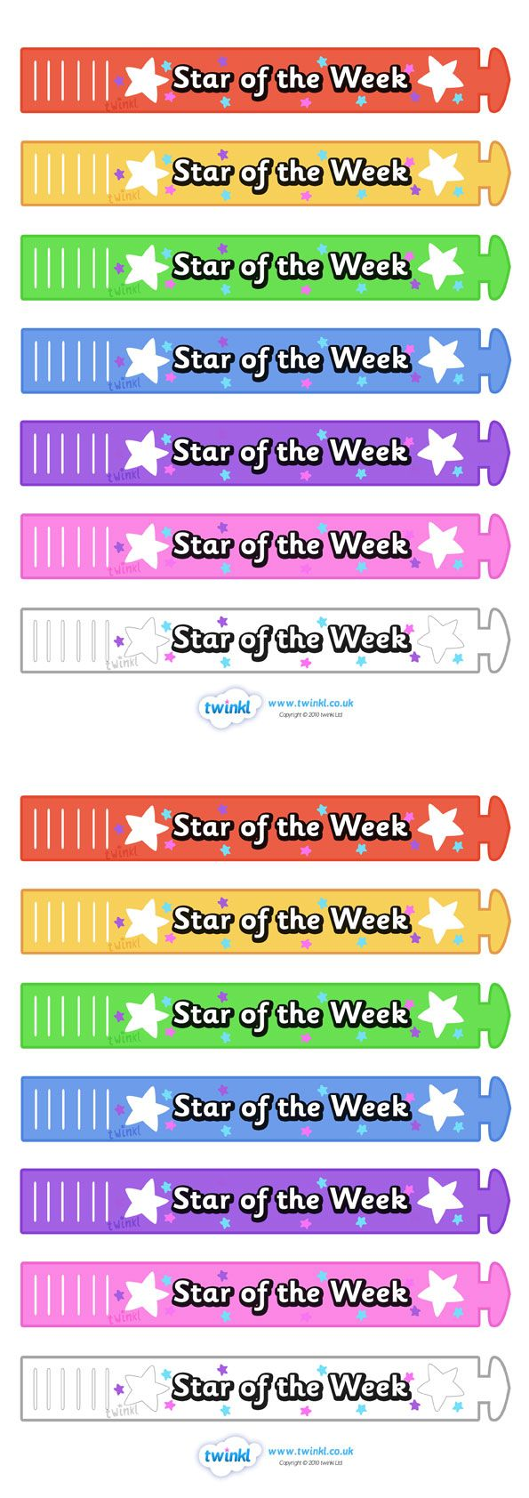 Twinkl Resources >> Wristband Awards Star Of The Week  >> Thousands of printable primary teaching resources for EYFS, KS1, KS2 and beyond! wristband, band, award, reward, award, certificate, medal, rewards, school reward, star of the week,