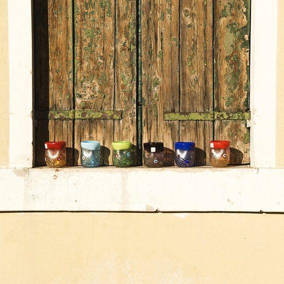 Murano Glass tumblers  - Murrina and Millefiori - Trademark of Origin Guaranteed - Venice shipped on Etsy, $394.88