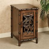 Tropical Chairside Storage Cabinet Honey Maple
