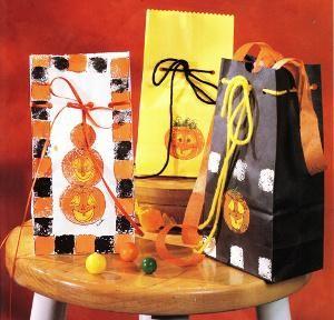 DIY Halloween : DIY Halloween Gift Bags DIY Halloween Decor