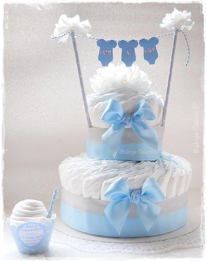Gâteau de bébé – c'est un gâteau de couche pour garçon   – Deko