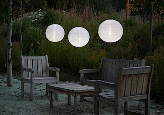 solar-powered moon lanterns for summer nights