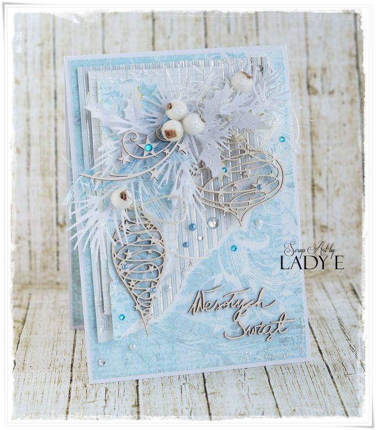 Scrap Art by Lady E: 2 Christmas Cards / 2 Kartki Świąteczne Scrapiniec DT