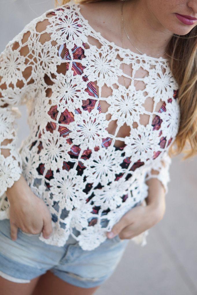 MINKPINK Build Me Up Crochet Top