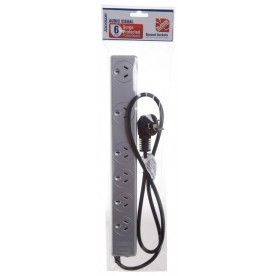 6 Outlet Surge Protected Powerboard - Silver - Flash Sale today! 40% Off!!!